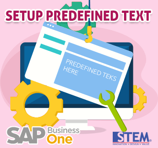 SAP Business One Tips Setup Predefined Teks