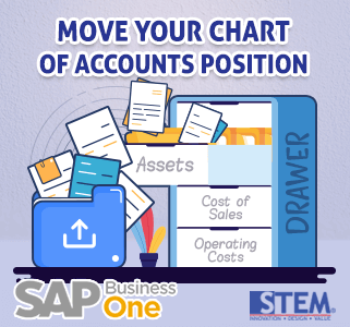 SAP Business One Tips Move Charts of Account Position