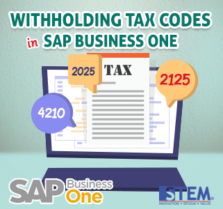 SAP Business One Tips Tax Codes