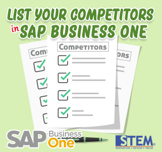 SAP Business One Tips List Your Competitor