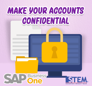 SAP Business One Tips Make Accounts Confidential