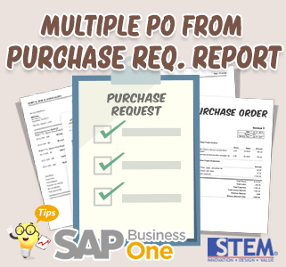 SAP Business One Tips Puchase Order from Purchase Request