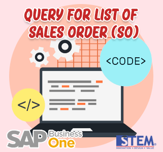 SAP Business One Tips Query for Sales Order