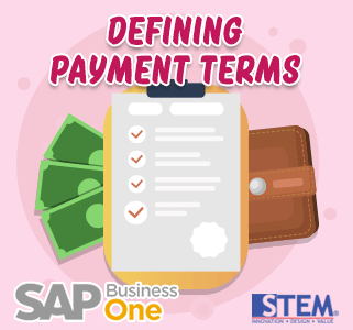 SAP Business One Tips Defining Payment Terms
