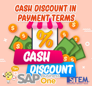 SAP Business One Tips Cash Discount in Payment