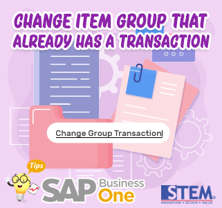 SAP Business One Tips ChangeGroup Transaction