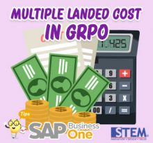 SAP Business One Tips Multiple Landed Cost in GRPO