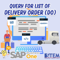 SAP Business One TipsQuery Delivery Order