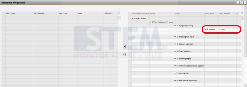 SAP Business One Tips - STEM - Attach Document To Project Management