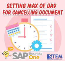 SAP Business One Tips Setting for Cancelling Document