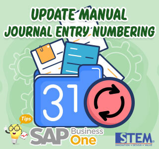 SAP Business One Tips Update Manual Journal Entry