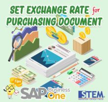 SAP-Business-One-Tips-Set-Exchange-Rate-for-purchasing-document