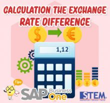 SAP Business One Indonesia Tips Calculation The Exchange Rate Difference