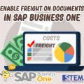 SAP Business One Tips Indonesia Enable Freight On Documents