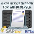 SAP Business One Tips Indonesia How to Use Valid Certificate For SAP Server
