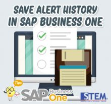 SAP Business One Tips Indonesia Save Alert History
