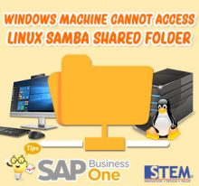 SAP BusinessOne Tips Indonesia Window Cannot Access Linux Shared Folder