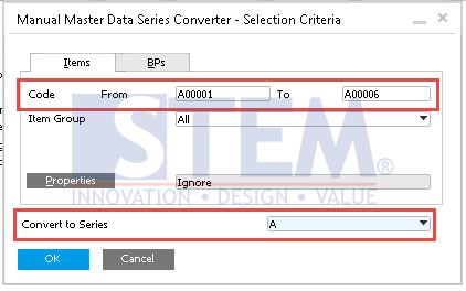SAP Business One Tips - Convert Manual Master Data Codes to Automatic Numbering Series