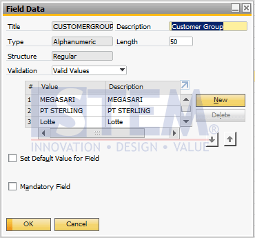 SAP Business One Tips - How to Add Value to the UDF that has been Created