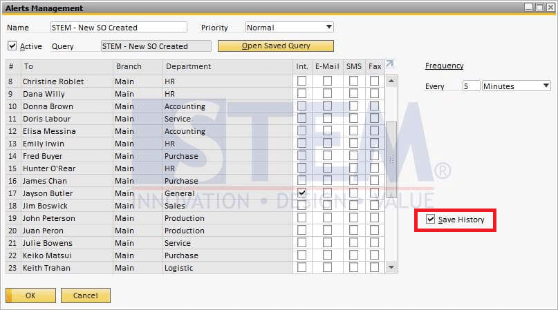 SAP Business One Tips - How to Save Alert History in SAP Business One