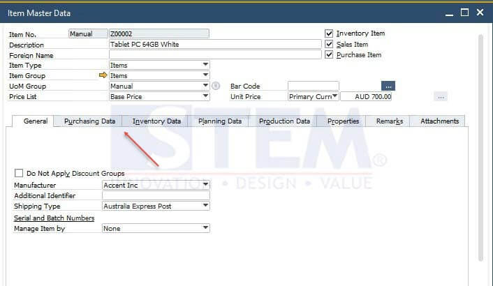 SAP Business One Tips - Tab Authorization In Master Data