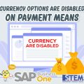 SAP Business One Indonesia Tips Currency Options Are Disabled
