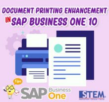 SAP Business One Indonesia Tips Document Printing Enhancement in 10