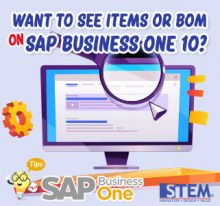 SAP Business One Indonesia Tips Want to See Items or BOM in 10