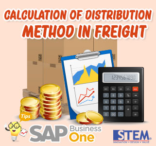 SAP Business One Tips Calculation of Distribution Method in Freight