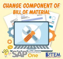 SAP Business One Tips Change Component of Bill Material