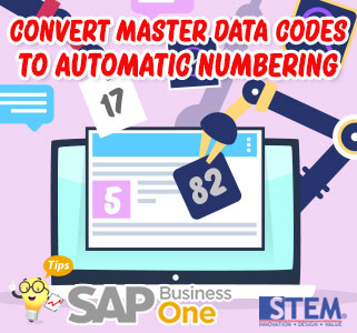 SAP Business One Tips Convert Master Data Codes To Automatic Numbering Series