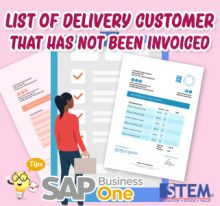 SAP Business One Tips List of Delivery Customer That Has Not Been Invoiced
