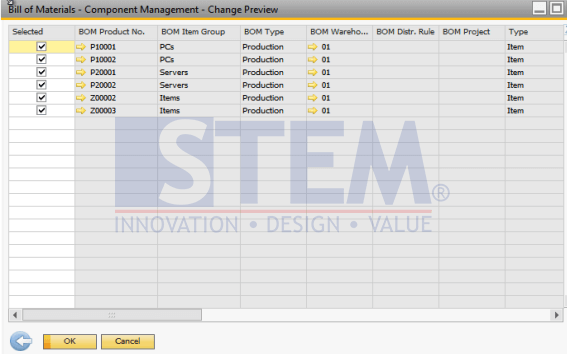 SAP Business One Tips - How To Change Component of Bill of Material