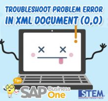 SAP Business One Tips Troubleshoot Problem Error in XML Doc