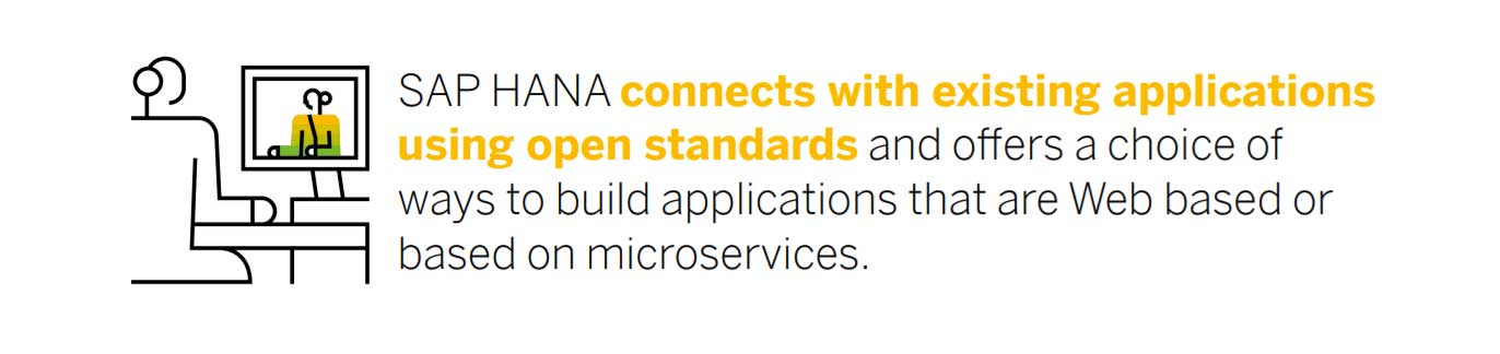 sap hana connects applications using open standards