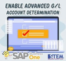 SAP Business One Tips Advanced GL Account Determination
