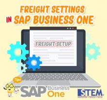 SAP Business One Tips Freight Setting