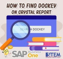 SAP Business One Tips How to Find Dockey on Crystal Report