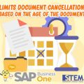 SAP Business One Tips Limits Document Cancellation