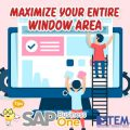 SAP Business One Tips Maximour Entitre Window Area