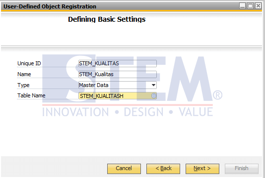 SAP Business One Tips - How to Create User Defined Object