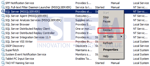 SAP Business One Tips - Restart SLD SAP Business One with SQL Server