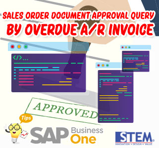 SAP Business One Tips Sales Order Document Approval Quey