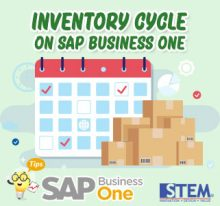 SAP Business One tips Inventory Cycle