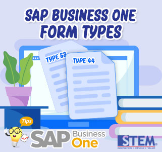 sap business one tips form types