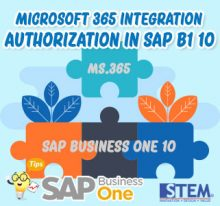 sap business one tips microsoft 365 integration authorization in 10