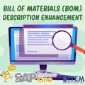 SAP Business One Tips Bill of Material BOM Description Enhancement
