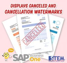 SAP Business One Tips Display Cancelled Watermark