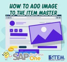 SAP Business One Tips How to Add Image to The Item Master