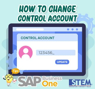 SAP Business One Tips How to Change Control Account